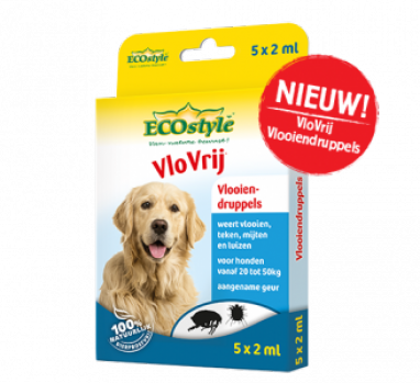ecostyle vlooiendruppels grote hond