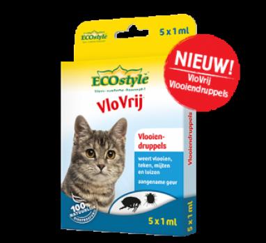 Ecostyle vlooiendruppels kat